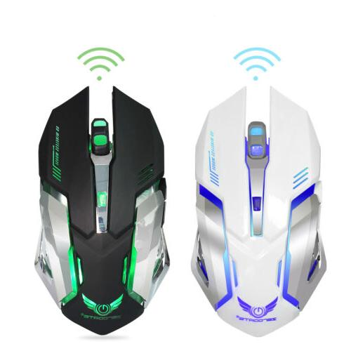 X70 LED Backlit Rechargeable Wireless Optical Gaming Mouse US