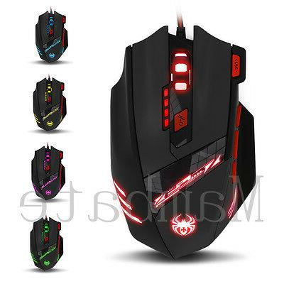 Zelotes Gaming 8000 8 Button USB LED Wired
