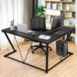 L Shaped Home Office Desk Study Computer Gaming Laptop Table