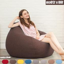Large Bean Bag Chairs for Adults Couch Sofa Cover Indoor Mov