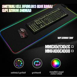Large RGB Colorful LED Lighting Gaming Mouse Pad Mat Accesso