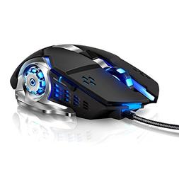 LENRUE Laser Gaming Mouse Wired with 6 Programable Buttons 4