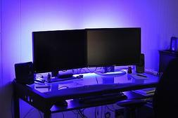 _____ LED Gaming DESK lights ____ new 2016 __ dual monitor s