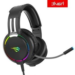Led Professional Gaming Headset Wired RGB Light HD Microphon