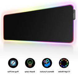 LED RGB Gaming Mouse Pad - 10 Light Modes Extended Computer