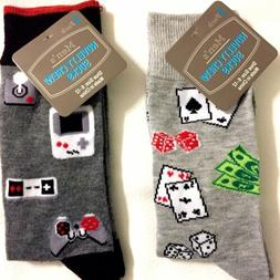 Lot of 2 New  MENS Novelty Gaming Socks  Electronic Games, &
