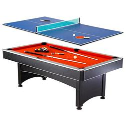Hathaway Maverick 7-foot Pool and Table Tennis Multi Game wi