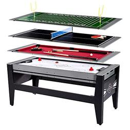 MD Sports Lancaster 4 in 1 Air Hockey Pool Ping Pong Footbal