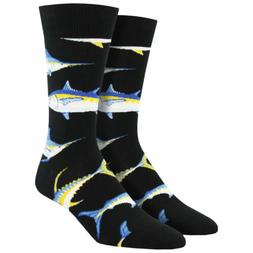 Men's Black Crew Socks Novelty Footwear Just For Sport Game