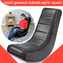 Modern Video Game Rocker Gaming Chair TV Floor Padded Seat K