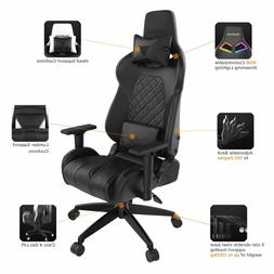 GAMDIAS Multi Color RGB Gaming Chair High Back Headrest and