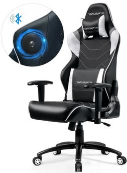 Music Gaming Chair with Bluetooth Speakers Audio Racing Chai