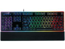 ROSEWILL NEON K51B Gaming Keyboard, RGB LED Backlit Wired Me