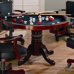 NEW CHERRY 3 in 1 DINING CARD GAME TABLE POKER BUMPER POOL B