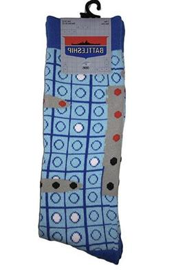 New Mens BATTLESHIP Novelty Crew Socks Size 10-13