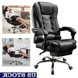 High Back Leather Recliner Racing Gaming Chair Ergonomic Off