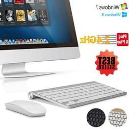 NEW Wireless USB 2.4GHZ Keyboard and Mouse Slim Combo Set fo