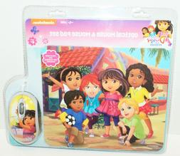 NICKELODEON DORA & FRIENDS - COMPUTER OPTICAL MOUSE & PAD SE