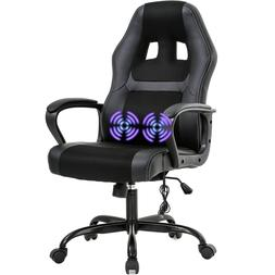 PC Gaming Chair Massage Office Chair Ergonomic Desk Chair Ad