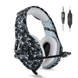 PC Stereo Gaming Headset with Microphone for PS4 Gamepad New