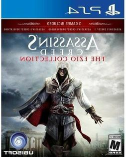 PLAYSTATION 4 PS4 GAME ASSASSIN'S CREED EZIO TRILOGY NEW AND