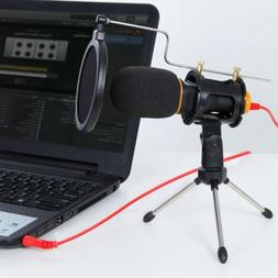 TONOR Condenser Microphone Mic 3.5mm with Tripod Stand for P