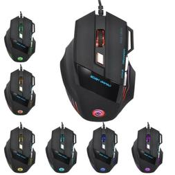 Professional Wired Gaming Mouse 7 Button 5500 DPI LED Optica
