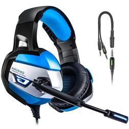 PS4 Gaming Headset TUSBIKO Noise Cancelling Gaming Headphone