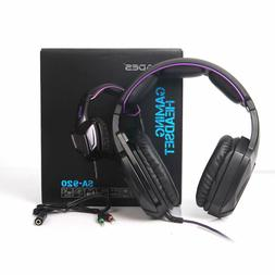 PS4 Headset With Mic Purple Stereo Gaming Headphone Noise Ca