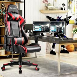 High Back Office Gaming Chair Headrest Racing Recliner Bucke