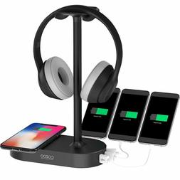 Qi Headphone Stand With Usb Charger Cozoo Gaming Headset Hol