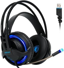 Sades R2 Gaming Headset Virtual New 7.1 Channel Surround Sou
