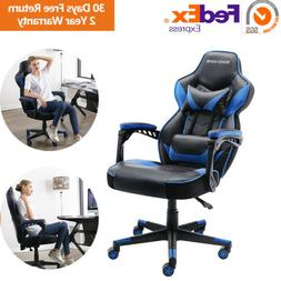 Racing Gaming Chair Office Desk PC Chair PU Leather 360 Swiv