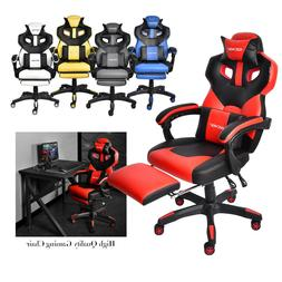 Video Gaming Chair Office Racing Recliner Leather Swivel Com