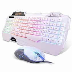 Havit RAINBOW Backlit Wired Gaming Keyboard Mouse Combo WHIT