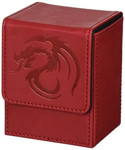 BCW Red Deck Case LX Gaming Card Leatherette Magic the Gathe