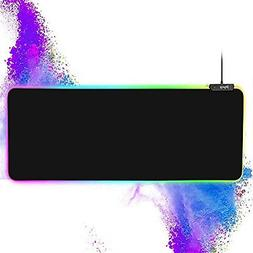 RGB Gaming Large Mouse pad Professional LED Extended Black M