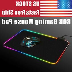 RGB Lighting Colorful LED USB  Gaming Mouse Pad Mat Large 35