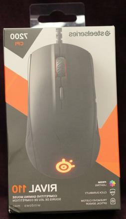 SteelSeries Rival 110 Gaming Mouse - 7,200 CPI TrueMove1 Opt