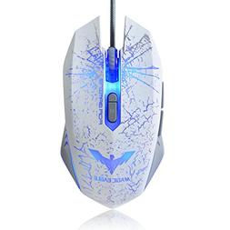 HAVIT S10 Wired Mouse, 2400 DPI, 4 Adjustable LED, 7 Buttons