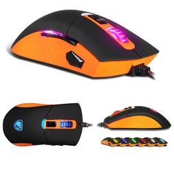 SADES S8 Gaming Mouse 2500 DPI Optical USB Wired Gaming Mice