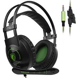 Sades SA801 Gaming Headset Headphone 3.5mm Wired Mic Volume