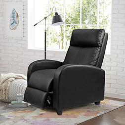 Homall Single Recliner Chair Padded Seat Black PU Leather Li