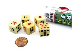 Spanish Poker Dice Game with 5 Dice Travel Tube and Gaming I