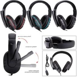 Stereo 3.5mm Wired Gaming Headset Headphone For PS4 Xbox One