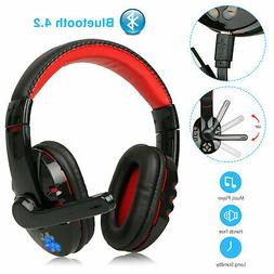 Stereo Bluetooth Wireless Gaming Headset Headphone For iPhon