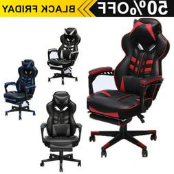 Upgraded Version Racing Gaming Chair Overstuffed Padded Comp
