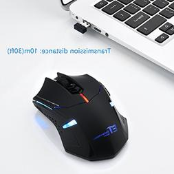 New USB 7 Buttons Wireless Professional Game Gaming Optical
