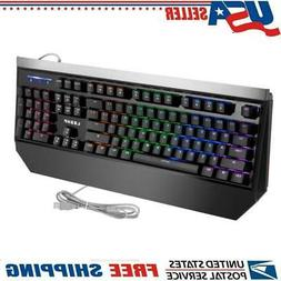 USB Wired Gaming Mechanical Keyboard Breathing Rainbow LED B