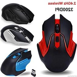 2.4GHz 3200DPI USB Wireless Optical Gaming Mouse Mice For PC